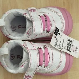 NWT. Cute white and pink toddler shoe.